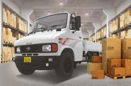 What is the turning radius of Tata 407 Light Trucks?