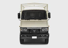 Tata 407 Truck Front Side White Colour
