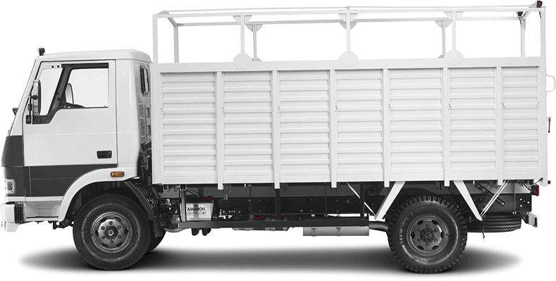 Tata 407 Truck White Flat Side
