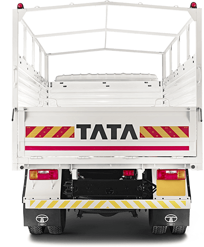 Tata 909 Truck Back Side White Colour