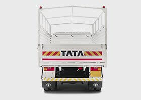 Tata 909 Truck White Back Side