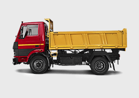 Tata Tipper LH Side Red Colour